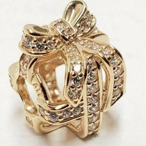 gold pandora charm